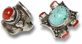 Tibetan horse saddle rings