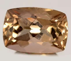 Cushion-Cut Axinite Gem
