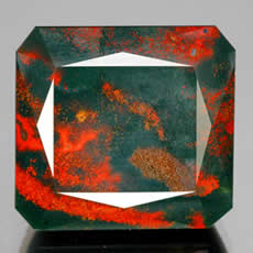 Octagon Facet Bloodstone
