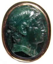 Bloodstone Cameo Carving