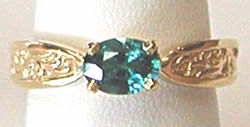Blue Zircon 14k Gold