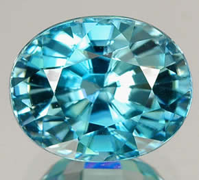 Blue Zircon from Cambodia