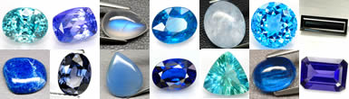Blue gemstones from GemSelect