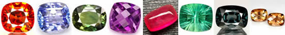 Cushion or Antique Cut Gemstones at GemSelect