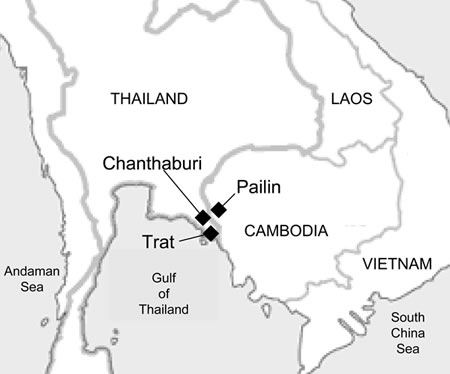 Chanthaburi Pailin Map