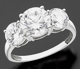 White Cubic Zirconia Ring