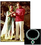 Diamond and emerald necklace of Elizabeth Taylor
