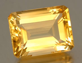 Emerald-Cut Citrine Gem