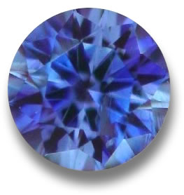 Faceted Benitoite