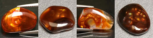 Rare Fire Agate Cabochons