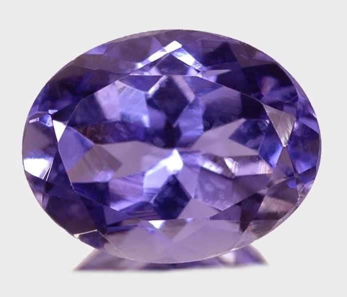 4 30 cts oval cut purple blue vs iolite tanzania