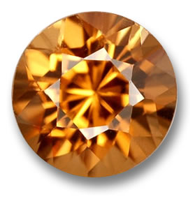 Orange Zircon from Cambodia