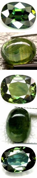 Natural Green Sapphire Gems at GemSelect