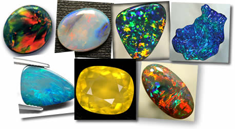 Natural Australian Opals at GemSelect