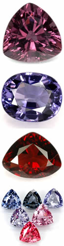 Spinel from Tanzania and Burma