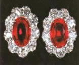 Queen Mary's large ruby earrings