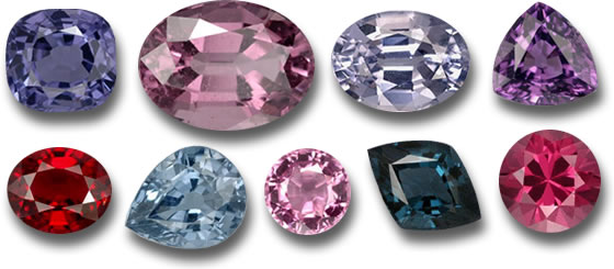 Range of Spinel Colors