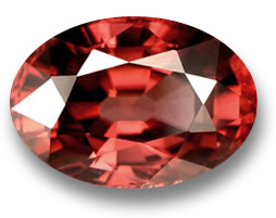 Red Orange Zircon from Tanzania