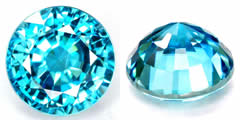 Round Brillian Cut Gemstones