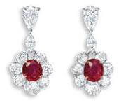 Burmese Ruby Errings