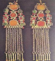 Silver earrings from Epirus