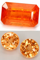 Natural Spessartite Garnets at GemSelect