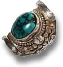 Tibetian Turquoise Silver Jewelry