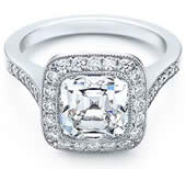 Cushion Cut Diamond Ring from Tiffany