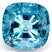 Natural Blue Cushion Cut Topaz