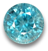 Round Facet Blue Zircon