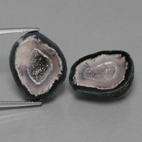Multicolor Agate Geode Gem - 12.2ct Fancy Crystal Cluster (ID: 454989)