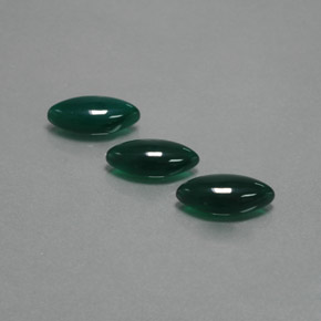 Green Agate Gem - 3ct Marquise Cabochon (ID: 383161)