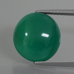 Green Agate Gem - 6.4ct Oval Cabochon (ID: 426242)