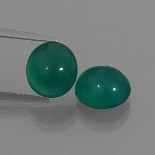 Green Agate Gem - 2.5ct Oval Cabochon (ID: 426329)