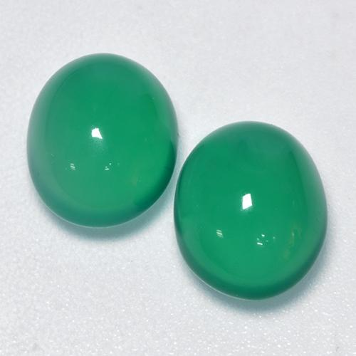 Medium Green Agate Gem - 2.7ct Oval Cabochon (ID: 426335)