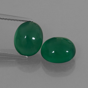 Medium Green Ágata Gema - 2.9ct Cabujón Óvalo (ID: 426406)