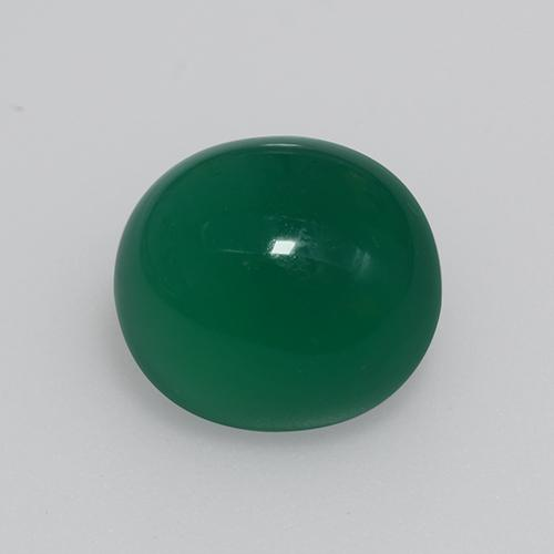 Forest Green Agate Gem - 3.8ct Oval Cabochon (ID: 426424)