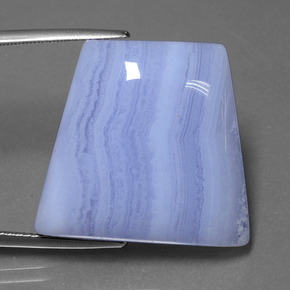 Lavender Agate Gem - 32.3ct Trapezoid Cabochon (ID: 432586)