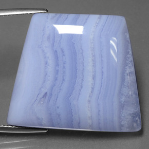 43.8ct Trapezoid Cabochon Light Blue Agate Gem (ID: 432590)