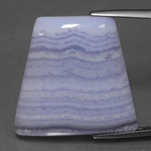 Light Violet Agate Gem - 28ct Trapezoid Cabochon (ID: 432768)