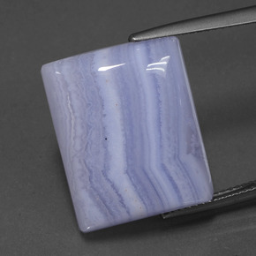 Light Royal Violet Agate Gem - 23.2ct Baguette Cabochon (ID: 432842)