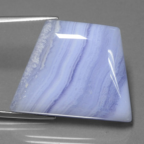 Royal Violet Agate Gem - 49ct Trapezoid Cabochon (ID: 433125)