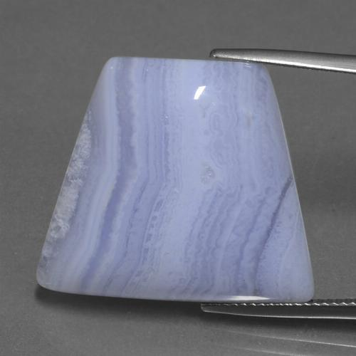 29.19 ct Trapezoid Cabochon Medium-Light Violet Agate Gemstone 25.34 mm x 22 mm (Product ID: 433269)