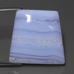 Lavender Agate Gem - 38.5ct Trapezoid Cabochon (ID: 433435)
