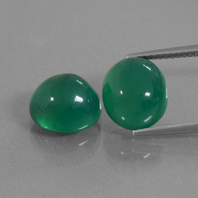 Medium Green Agate Gem - 4ct Oval Cabochon (ID: 436826)