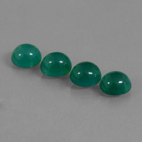Green Agate Gem - 2ct Oval Cabochon (ID: 437406)