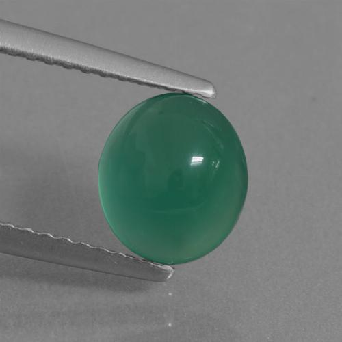 Green Agate Gem - 1.6ct Oval Cabochon (ID: 437434)