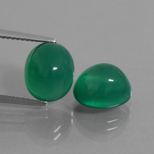 Green Agate Gem - 4.2ct Oval Cabochon (ID: 437654)