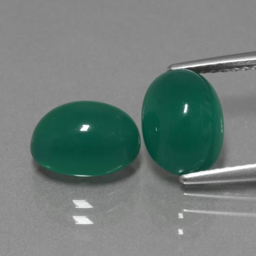 Green Agate Gem - 2.5ct Oval Cabochon (ID: 443654)