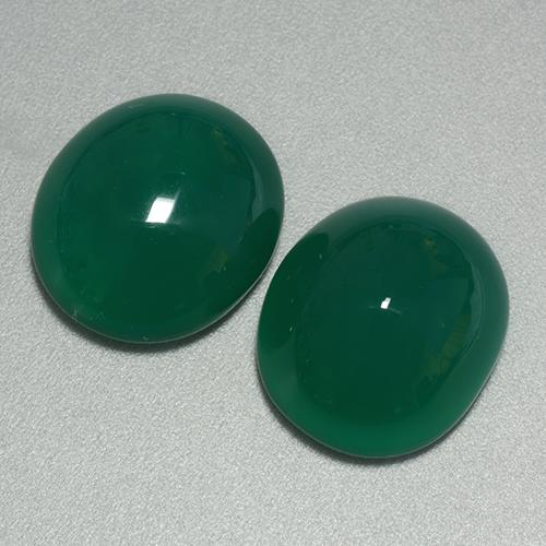 Green Agate Gem - 7.5ct Oval Cabochon (ID: 445069)
